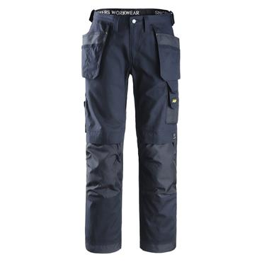 Snickers 3214 Canvas+ Craftsmen Holster Pocket Trousers - Navy