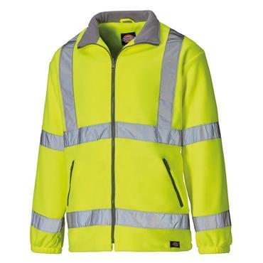 Dickies SA22032 High-Visibility Fleece Jacket - Yellow