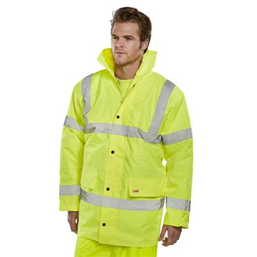 CITEC CTJENGSY High-Visibility Constructor Traffic Jacket - Saturn Yellow