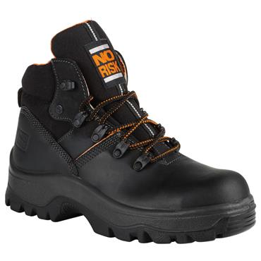No Risk Armstrong S3 Black Safety Boots