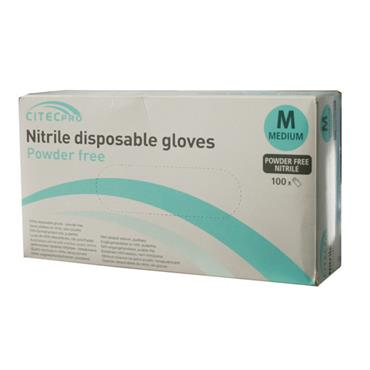 CITEC CN100 PRO Nitrile Powder Free Disposable Gloves Box of 100