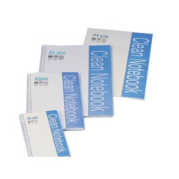 KM COPORATION Cleanroom Spiral Notebook Size A6 KMCS-72A65 Pack of 10