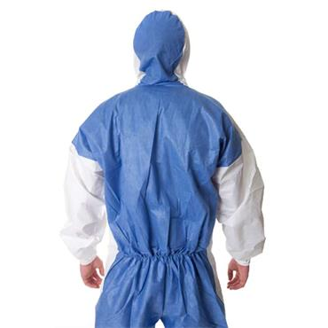 3M 4535 Protective Disposable Coverall - White/Blue
