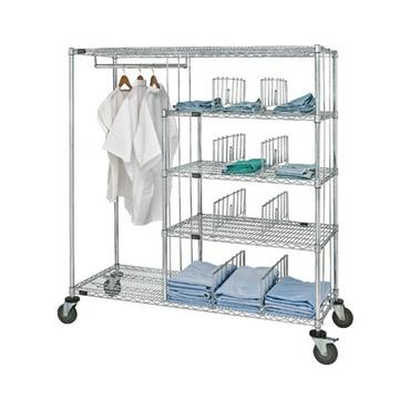"QUANTUM STORAGE Patient Apparel Cart 24"" x 60"" x 69"""