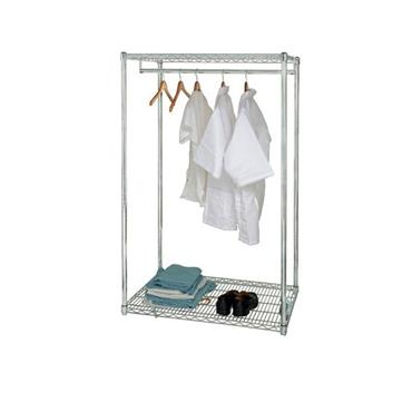 "QUANTUM STORAGE Stationary Wire Garment Racks 24"" x 48"" x 63"""