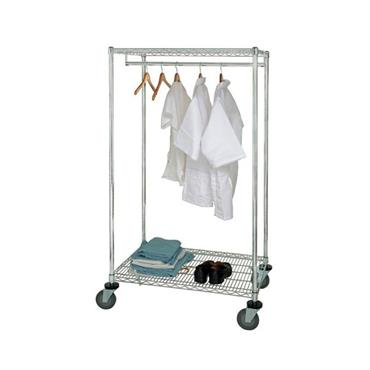 "QUANTUM STORAGE Mobile Wire Garment Racks 24"" x 48"" x 69"""
