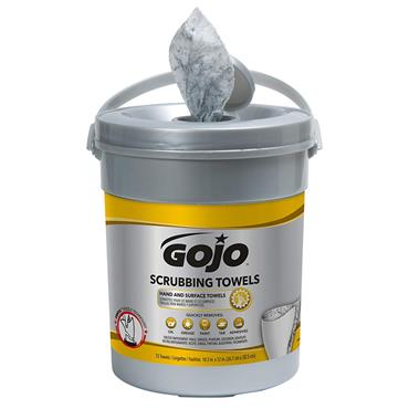 Gojo 6396-06 Heavy Duty 72 Count Canister Scrubbing Wipes