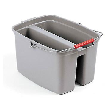 RUBBERMAID FG262888GRAY Brute 18L Gray Double Pail