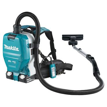 Makita DVC261ZX11 36 Volt LXT Brushless Backpack Vacuum Cleaner Body Only and Fleece Filter Bag