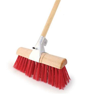 "BENTLEY N.22R/BC/F45 13"" Heavy Duty Yard Broom with Bracket"