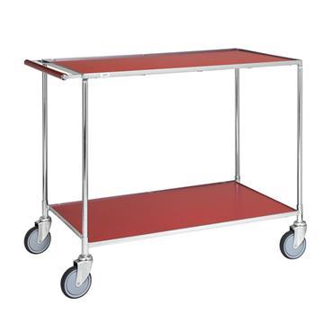 KM 30780-1 2-Shelf Red Table Trolley