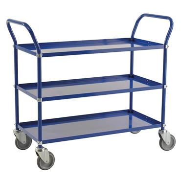 KM 4148-BB 3-Shelf Blue Trolley
