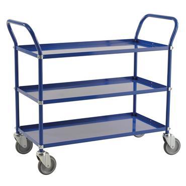 KM 4148-BB 3-Shelf Blue Trolley