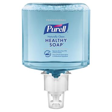 Purell 6471-02 1200ml Naturally Clean Foaming CRT Healthy Soap - 2 Case