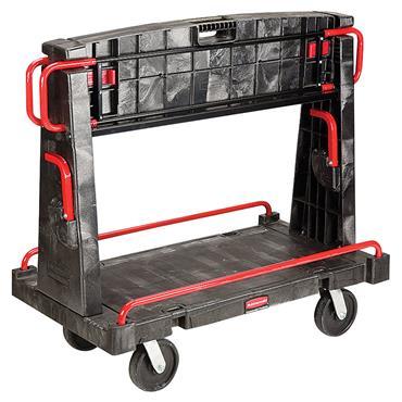"Rubbermaid FG446500BLA Convertible A-Frame 44"" x 24"" Truck - 2000 lb. Capacity"
