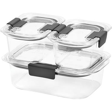 Rubbermaid 2025903 6 Piece Clear Containers Set