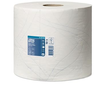 Tork 130062 Heavy-Duty White Wiping Paper 2 Rolls per Case