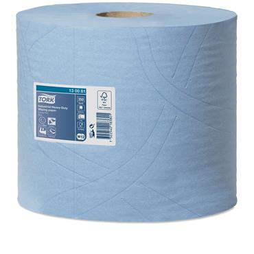 Tork 130081 Blue Industrial Heavy-Duty Wiping Paper 2 Rolls