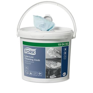 Tork 190492  Low-Lint Cleaning Handy Bucket Case of 4