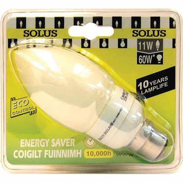 SOLUS CFL Energy Saving Light Bulbs Candle Style