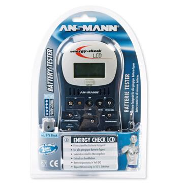 ANSMANN Professional Battery Tester Energy Check LCD