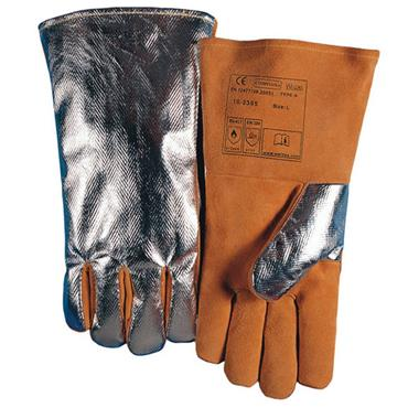 WELDAS 10-2385L Comfoflex Welding Gloves Aluminized Back