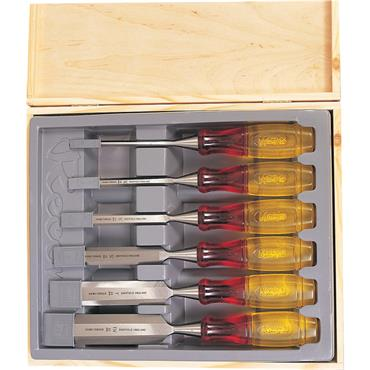 Irwin TM373/S6 6 Piece Marples Splitproof Bevel Edge Chisels Set