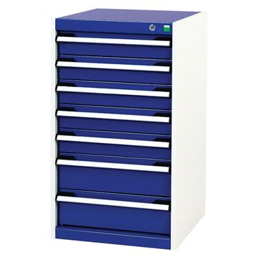 Bott 400 10 041 7-Drawer Blue Cubio Cabinet