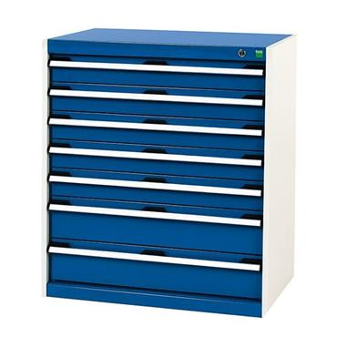 Bott 400 12 029 7-Drawer Blue Cubio Cabinet
