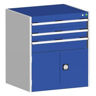 Bott 400 12 023 3-Drawer Blue Cubio Cabinet