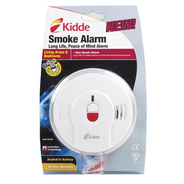 Kidde 0910 Sealed Long Life Lithium Battery Power Smoke Alarm