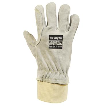 Polyco Granite 5 Delta High Cut Resistant Split Leather Gloves