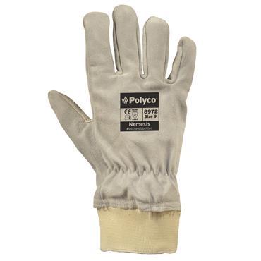 Polyco Nemesis Chrome Leather Cut Resistant Gloves