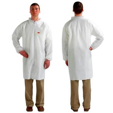 3M 4440 Disposable Protective Lab Coat - White