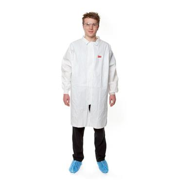 3M 4440 Disposable Protective Lab Coat - White