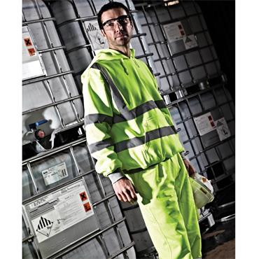 Dickies SA22090 High-Visibility Safety Hooded Sweatshirt - Yellow