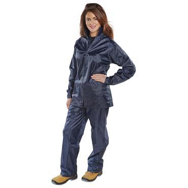 CITEC NBDS B-DRI Waterproof Lightweight Rain Suit Pack - Navy Blue