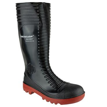 Dunlop A252931 Acifort Ribbed S5 Black Safety Wellington Boots