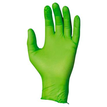 Best 7705PFT N-Dex Green Disposable Gloves Box of 100