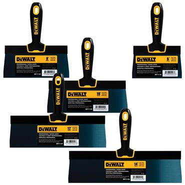 DeWALT  2-12 Blue Steel Taping Knife with Soft Grip Handle