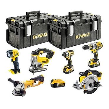 DeWALT DCK694P3 18 Volt XR Brushless 6 Piece Kit, 3 x 5.0Ah Batteries