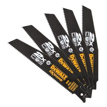DeWALT 10TPI 5 Piece General Purpose Life Recip Blade