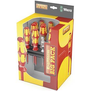 Wera 1058631 16 Piece Mixed Kraftform Plus Lasertip VDE Screwdriver Set