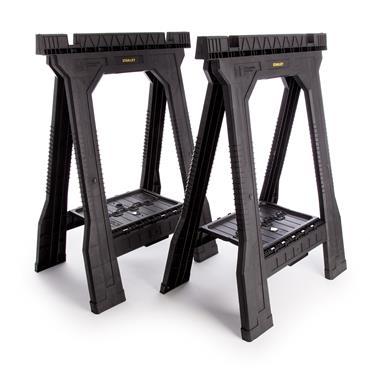 Stanley 060864R Folding Sawhorse Set - Twin Pack
