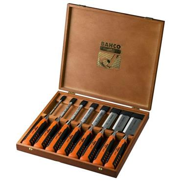 Bahco 424P-S8-EUR 8 Piece Bevel Edge Chisel Set