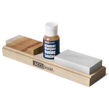 ACCUSHARP 023C Arkansas Whetstone Knife Sharpening Kit