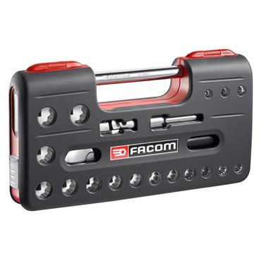 """Facom SL.DBOX112 21 Piece Metric 12 Point 1/2"""" Drive Socket Set"""