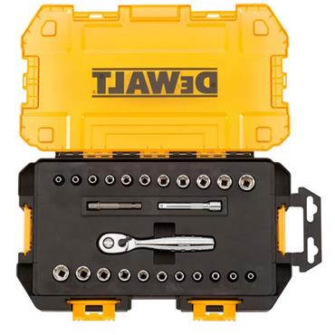 DeWALT DWMT73805 25 Piece Metric/Imperial 1/4'' Drive Socket Set