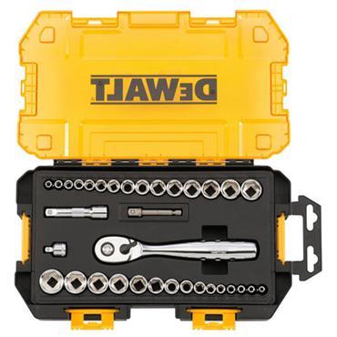 DeWALT DWMT73804 34 Piece Metric/Imperial 1/4'' and 3/8'' Drive Socket Set