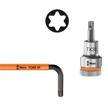 "Wera 8767 C Torx HF 1 9 Piece Zyklop 1/2"" Drive Bit Socket Set"